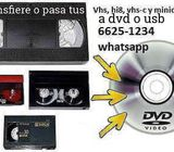 Pasamos tus vhs y cintas de video a usb
