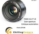 Lente 50mm F1.8 de gran apertura enfoque automático Para Canon