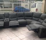 Remato sillones reclinables en L que necesitan tapicería