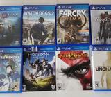 Juegos usados para PS4