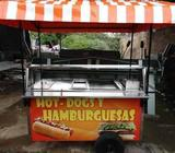 SE VENDE Carrito Hamburguesas Hot Dog dogs Carro Carretilla
