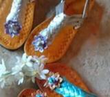Sandalias Cuero Pintadas