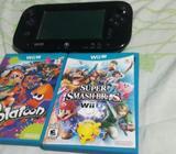 Wii u con 4 juegos