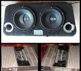 Bajos de 10 Pulg. Y Amplificador E 1000