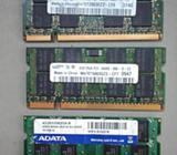 Memorias ram DDr2 de 2Gb para Laptop