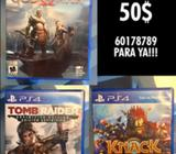 God of War, Tomb Raider y Knack