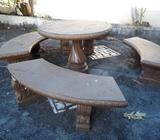 Juego de mesa de cemento para decoracion jardin