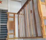 cama doble de teca muy bonita como nueva cel 60923871