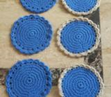 Set Porta Vasos en Crochet
