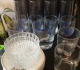 Set de Vasos Y Platos Varios