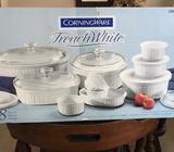 SET de cocina CorningWare Francés Blanco. / NUEVO