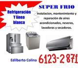 mantenimiento,instalación, reparación de aires, neveras, refrigeradoras, lavadoras y secadoras