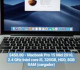 Macbook Pro 15 Y Pro Retina 13