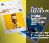 Afiche, Flyer o Poster // Diseño de Anuncio Solo Diseño