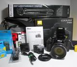 Camara Digital Nikon Coolpix P900 83X Zoom 16 Megapixeles WiFi NFC GPS Videos Full HD