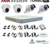 Kit 4 Camaras de video Vigilancia DVR, Mouse Wifi Todo, INCLUYE INSTALACIÓN