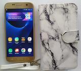 Samsung S7 FLAT Dorado con Cover Nuevo Negociable