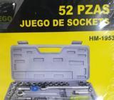 Juego de Sockets 52 Piezas