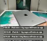iPad Mini 2, Air 1, Air 2, iPad 5, iPad