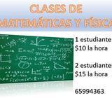 Clases de Matemáticas y Física 10/hora