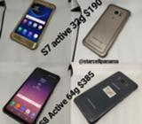 Samsung S6, S8, S7 Active, S8 Active, Lg
