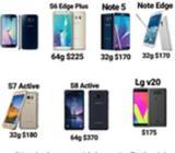 Samsung S6,s8,s7 Active,s8 Active,lg V20