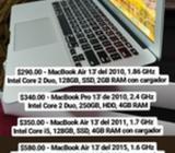 Macbook Air 13', Pro 13' Y Pro 15' Ver