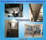 Servicio de Diseño, Fabricación, Instalación y Mantenimiento de Ductería