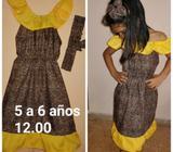 Vestido Nuevo Etnia Negra para 5 a 6 Año