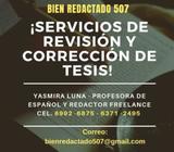 SERVICIOS DE REVISIÓN Y CORRECCIÓN DE TESIS