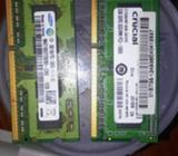 Memoria Ram de 2gb Dd3 para Laptop