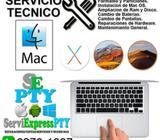 Servicio tecnico especializado para laptops apple macbook
