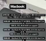 Macbook Air 11' Y Macbook Pro 13'