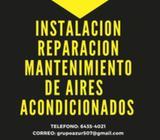 instalación reparación mantenimiento y venta de aires acondicionados