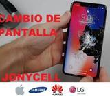 Cambio de Pantalla iPhone/Huawei/Samsung