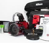 Camara Nikon B500 Roja WiFi Bluetooth NFC 16 Mp 40X Zoom Full HD