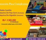 Promo cumpleaños, brinca brinca, algodon, pop corn y mas