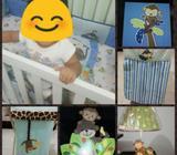 Vendo Set para Cuna de Bebe Tema Mono
