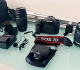 Canon Eos 7D 2 Lentes, Flash Y Accesorio