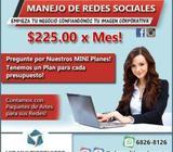 Manejo de Redes Sociales a Excelentes Precios!