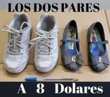 Zapatillas Escolares Blancas y Zapatos Grises Frozen para Niñas talla 11 y 12W