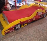 Cama Ferrari Espaciosa Pura Madera Linda