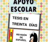 Profesora de español y técnicas de estudio 2020