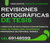 Revision ortográfica de tesis Panamá