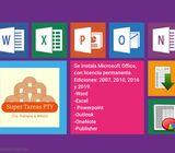 Se instala Office y Windows