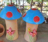 Artesanías de barro hongos